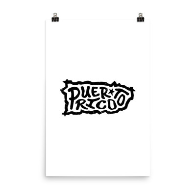 Puerto Rico Poster, Enhanced Matte Paper, White