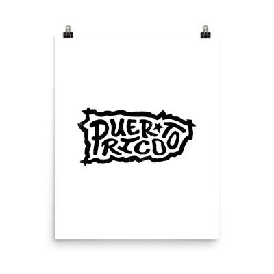 Puerto Rico Poster, Enhanced Matte Paper, White