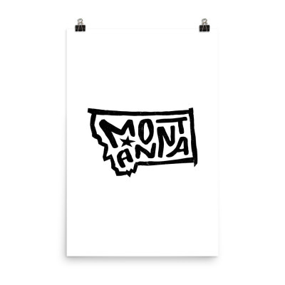 Montana Poster, Enhanced Matte Paper, White