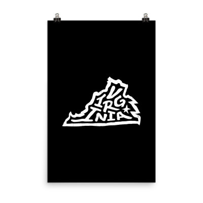Virginia Poster, Enhanced Matte Paper, Black