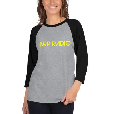 XRP Radio unisex 3/4 sleeve raglan shirt