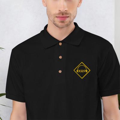 XRP Logo Embroidered Polo Shirt