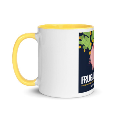 Frugalpreneur Podcast Cover Art Mug