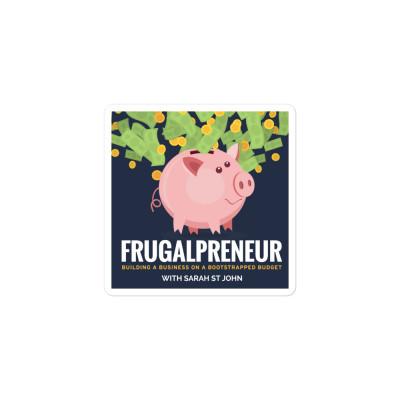 Frugalpreneur Podcast Cover Art Sticker
