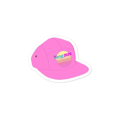 The Pink Yang2020 Hat Sticker