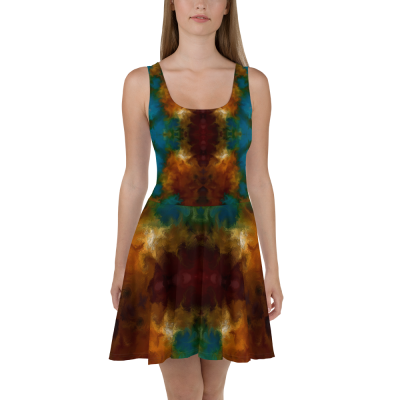 POEFASHION® DESIGNS Royston Golden Glow Skater Dress 4