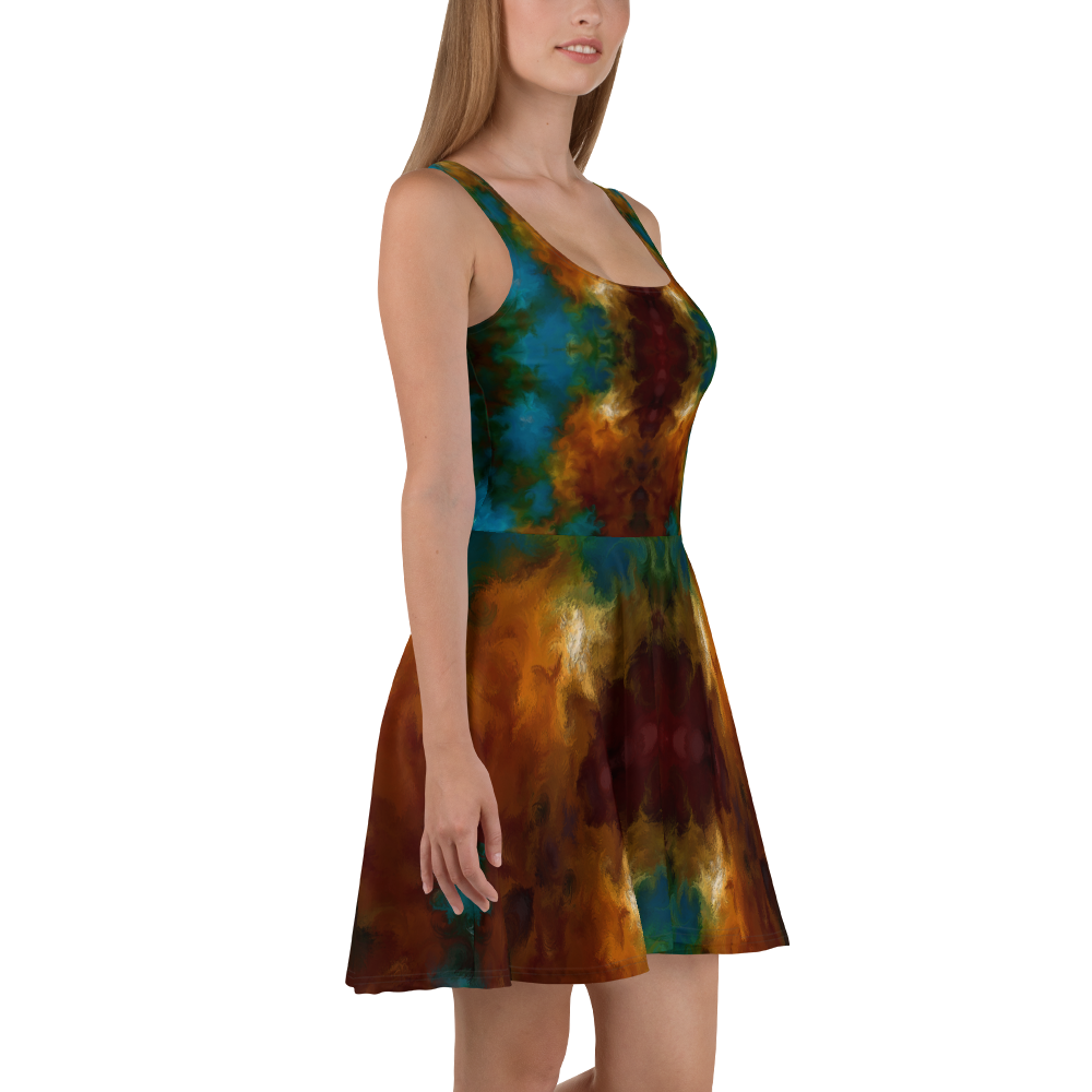 POEFASHION® DESIGNS Royston Golden Glow Skater Dress 4