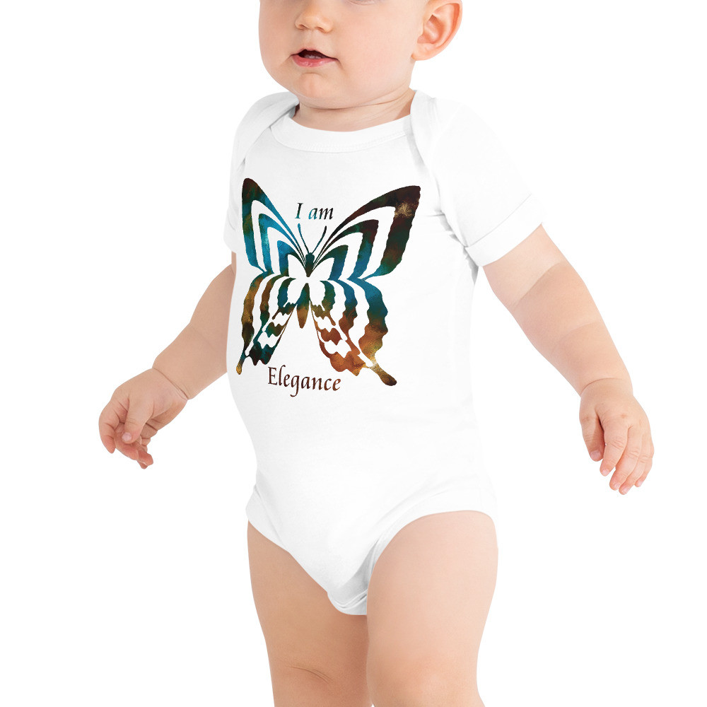 POEFASHION® DESIGN BABY I AM ELEGANCE Royston Golden Glow Butterfly Snap-on Tee
