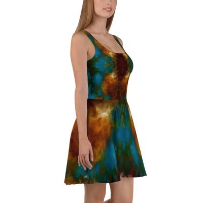 POEFASHION® I AM ELEGANCE Royston Golden Glow Skater Dress 1