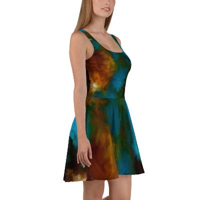 POEFASHION® I AM ELEGANCE Royston Golden Glow Skater Dress 2