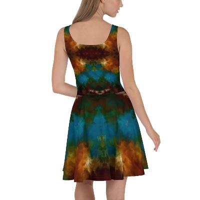 POEFASHION® I AM ELEGANCE -  Royston Golden Glow Skater Dress 3