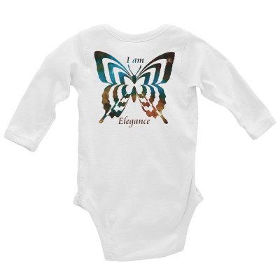 POEFASHION® Baby Long Sleeve Butterfly Royston Golden Glow Turquoise Bodysuit