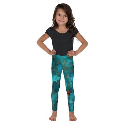 POEFASHION® Little Kid's Royston Blue Copper Leggings