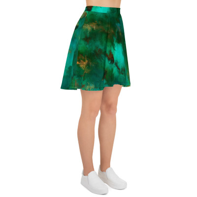 POEFASHION® Royston Pristine Turquoise Skater Skirt