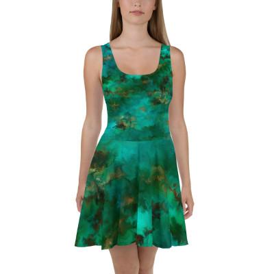 POEFASHION® Royston Pristine Turquoise Skater Dress
