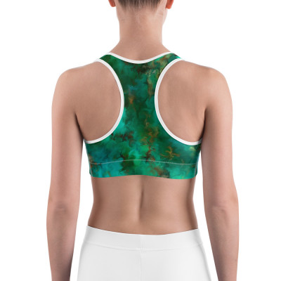 POEFASHION® Royston Pristine Turquoise Sports bra - Not Padded