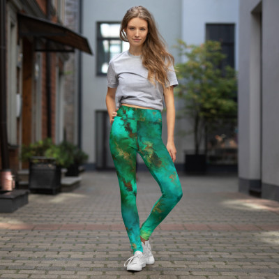 POEFASHION® Royston Pristine Turquoise Yoga Leggings - Regular Fit