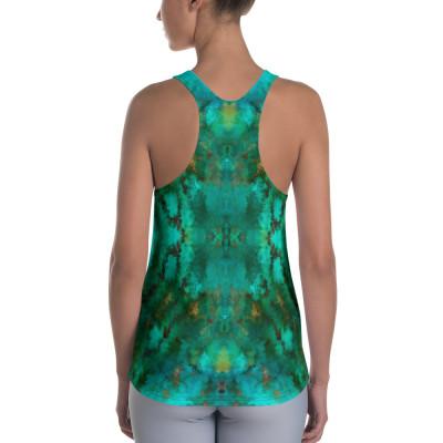 POEFASHION® Royston Pristine Turquoise Women's Racerback Tank 2