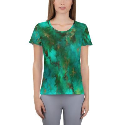 POEFASHION® Royston Pristine Turquoise Women's Athletic T-shirt