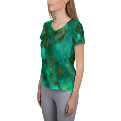 POEFASHION® Royston Pristine Turquoise Women's Athletic T-shirt