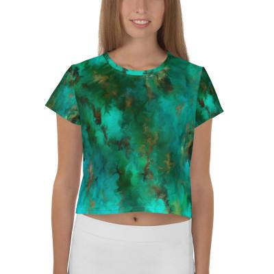 POEFASHION® Royston Pristine Turquoise Crop Tee