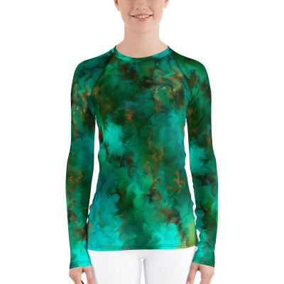 POEFASHION® Royston Pristine Turquoise Women's Sun-Rash Guard