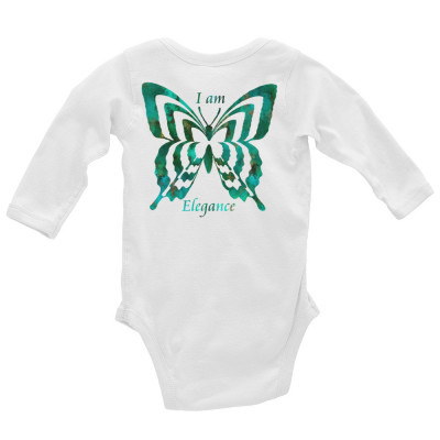 POEFASHION® Royston Pristine Turquoise Butterfly Infant Long Sleeve Bodysuit