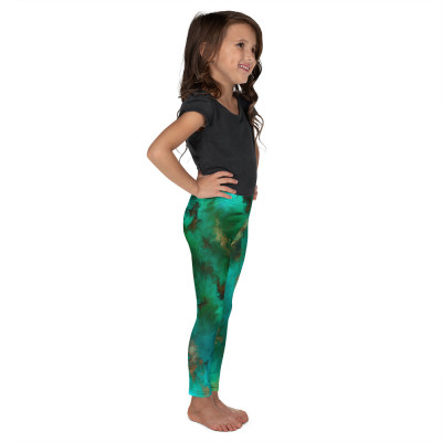 POEFASHION® Royston Pristine Turquoise Little Kid's Leggings