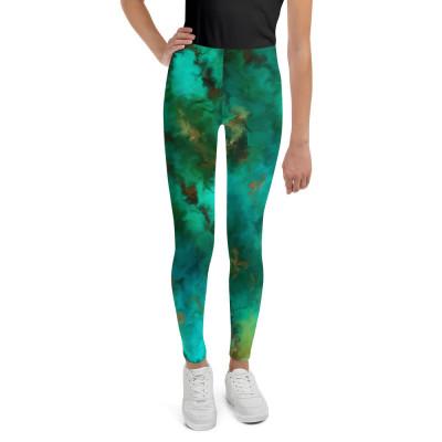 POEFASHION® Royston Pristine Turquoise Youth Leggings