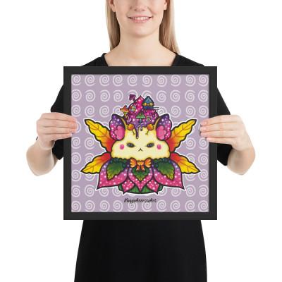 Fairy Hamster Cupcake - Framed Poster