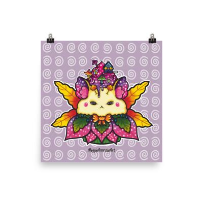 Fairy Hamster Cupcake - Poster