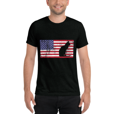 U.S.A. Flag & Cat