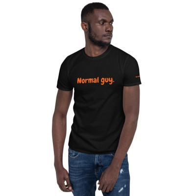 Normal Guy Short-Sleeve T-Shirt black and orange