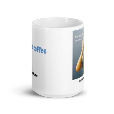 """I don't like coffee"" Mug with album art"