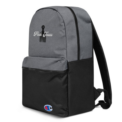 Pick Jesus Embroidered Champion Backpack