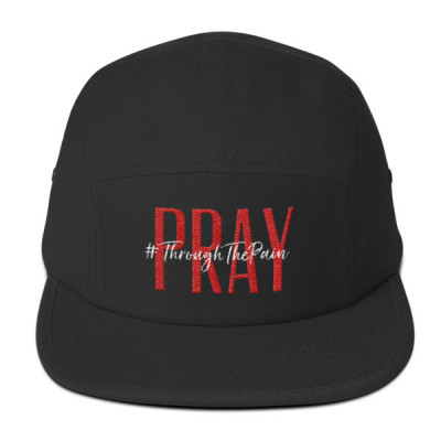 Pray #ThroughThePain Five Panel Cap