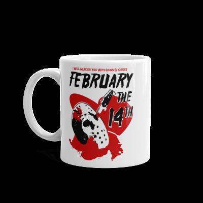Horror Movie Valentine February The 14th Mug