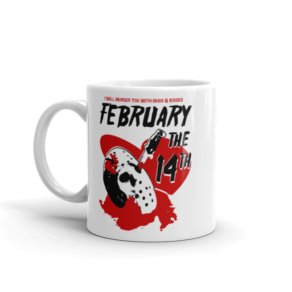 Horror Movie Valentine February The 14th Mug