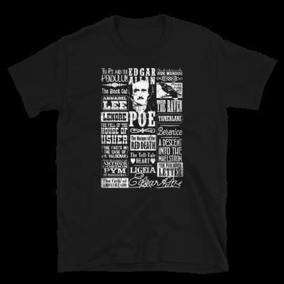 Edgar Allan Poe T-Shirt Books Stories Poems Quotes