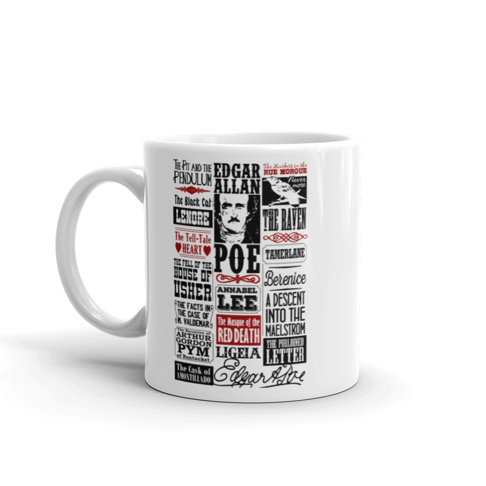 Edgar Allan Poe Mug Books Stories Poems Quotes