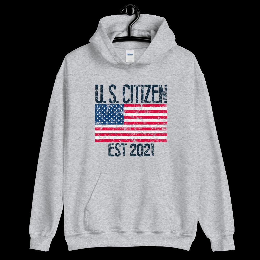 US Citizen Est 2021 Hoodie American Citizenship