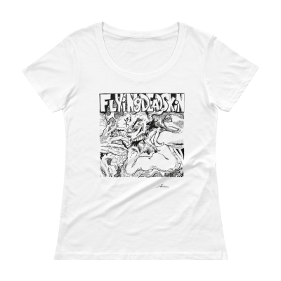 Flying Dead Skin 2020 - Ladies' Scoopneck T-Shirt