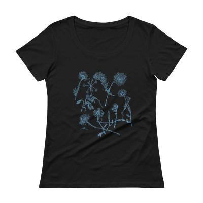 Blue Wildflowers - Ladies' Scoopneck T-Shirt