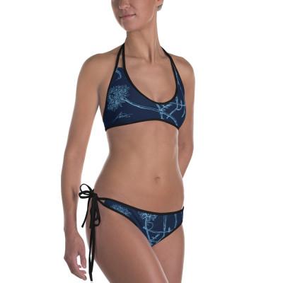 Blue Wildflowers - Blue Bikini