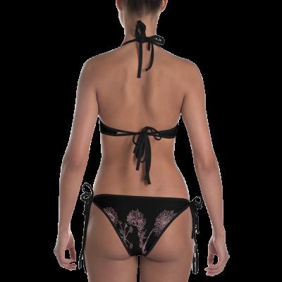 Pink Wildflowers - Black Bikini