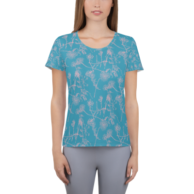 Pink Wildflowers - All-Over Print Women's Athletic T-shirt