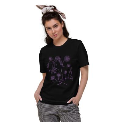 Purple Wildflowers - Unisex Organic Cotton T-Shirt
