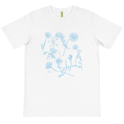 Blue Wildflowers - Organic T-Shirt