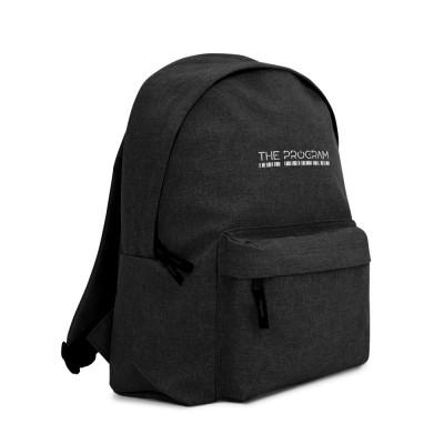 The Program embroidered logo backpack