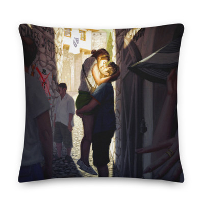 """""""You had me at Hello World"""" pillow"""